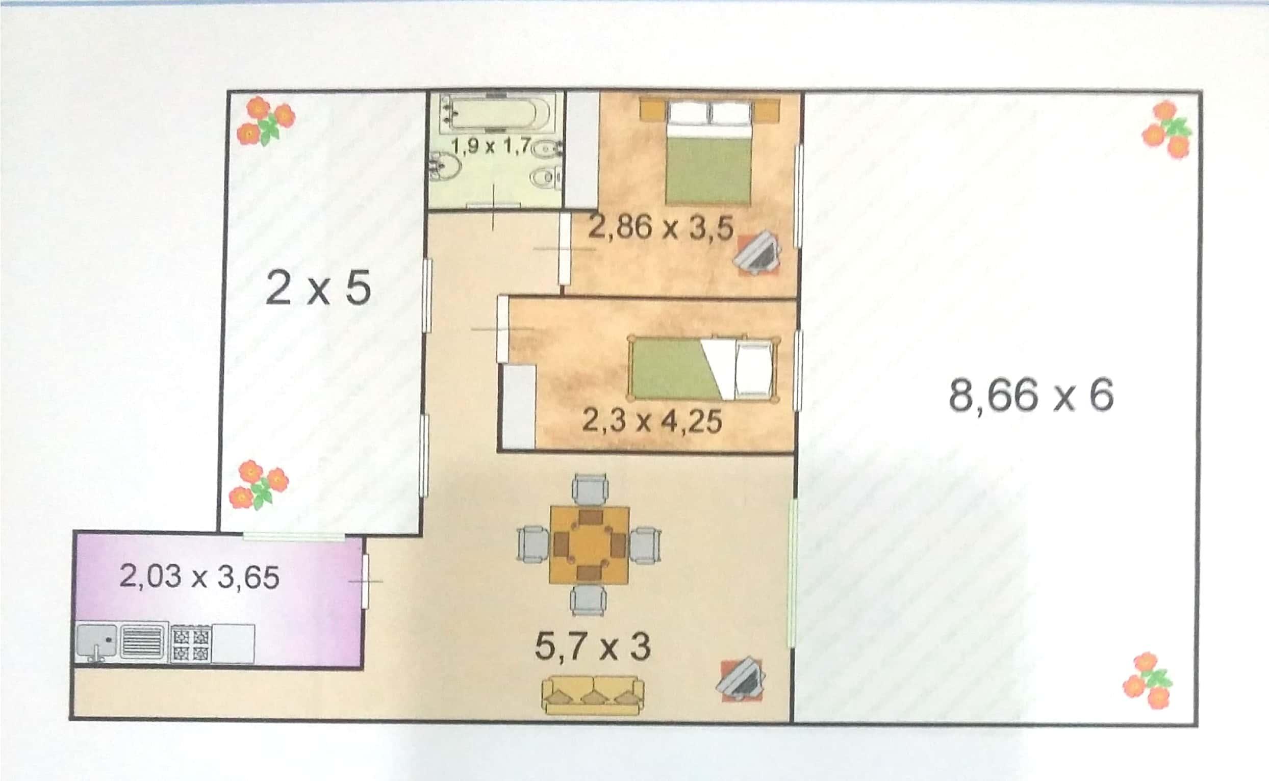 Dpto T/casa 3 Amb C/Fondo Uf3